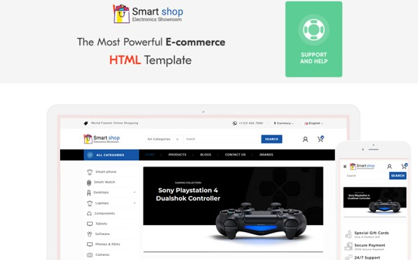 SmartShop Electronic Shop Website Template