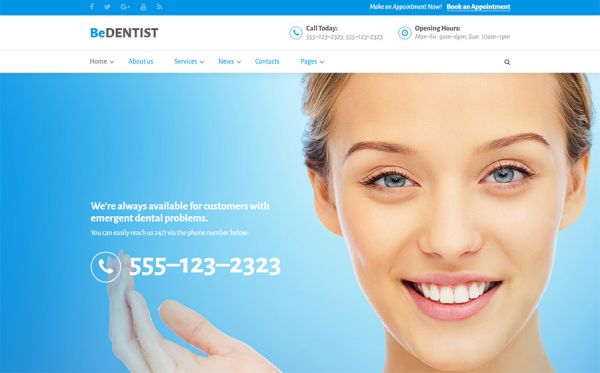 Doctors Office Website Template