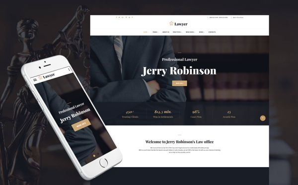 Lawyer & Attorney Multipage Website Template