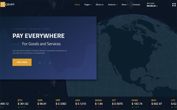 Cryptocurrency Multipage HTML Template