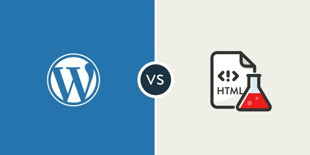 wordpress static html differences