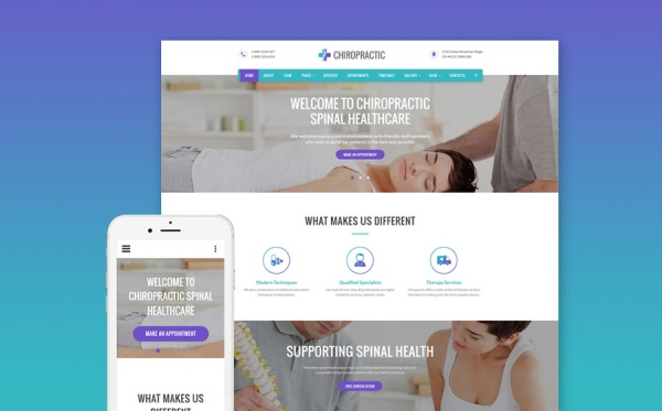 Chiropractic Website Template