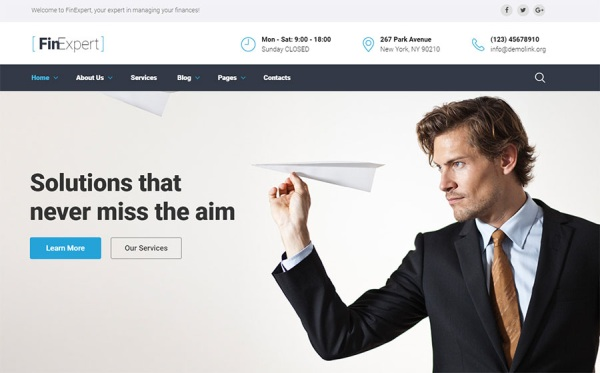 Business Advisor Web Template
