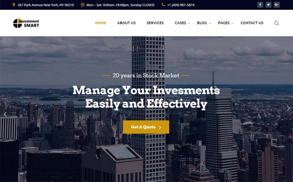 Investment Multipage HTML Template