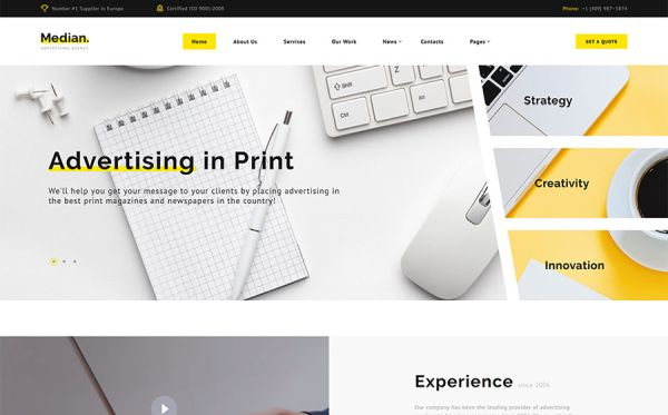 Advertising Agency HTML5 Template