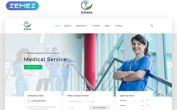 Medical Service Multipage HTML5 Template