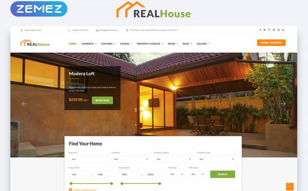 Real Estate HTML5 Template