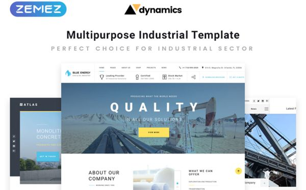 Industrial Multipage HTML5 Template