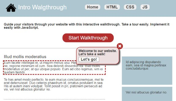 website intro walkthrough tour javascript