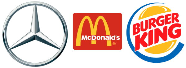 mercedes mcdonalds burgerking