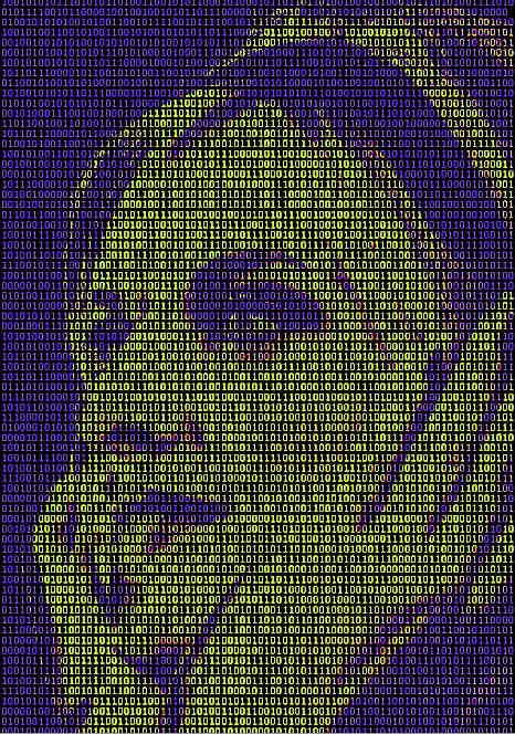 colored ascii text image