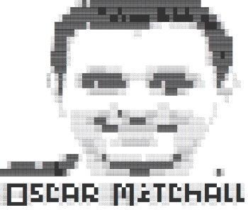 oscar mitchall text portrait